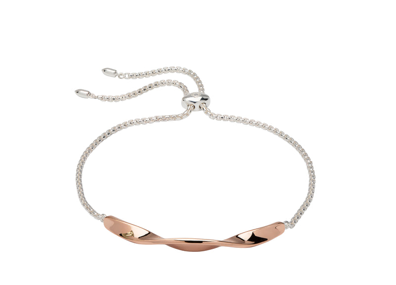 Unique & Co Ladies Sterling Silver Bracelet MBR-603 - Hamilton & Lewis Jewellery