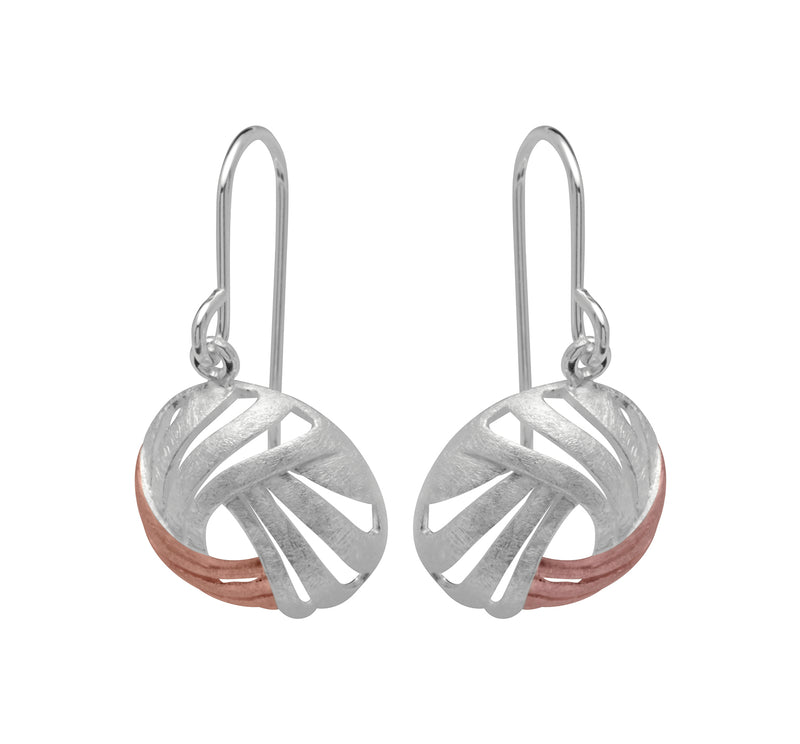 Unique & Co Ladies Sterling Silver Earrings ME-440 - Hamilton & Lewis Jewellery