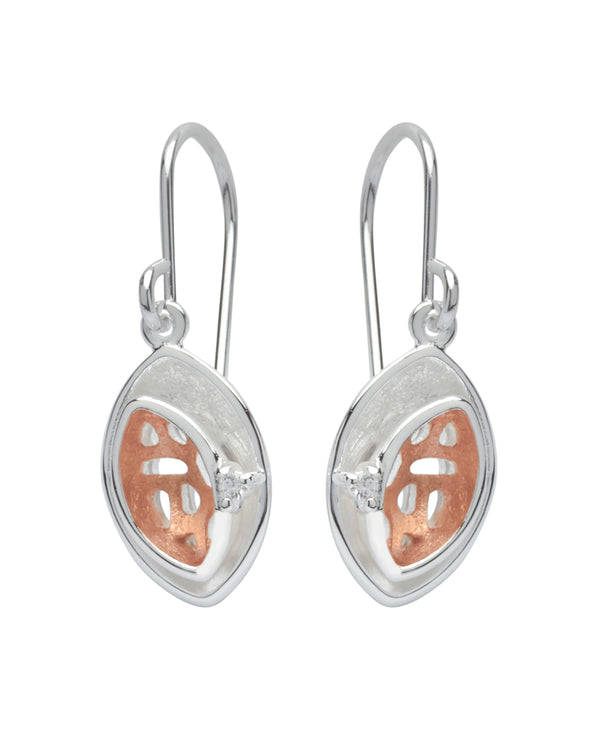 Unique & Co Ladies Sterling Silver Earrings ME-485 - Hamilton & Lewis Jewellery