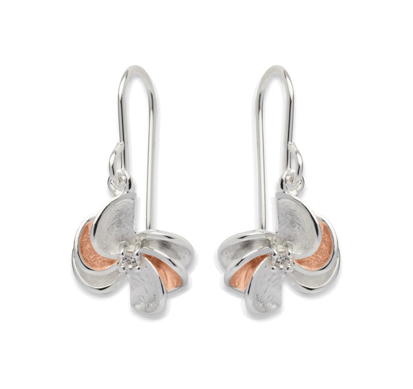 Unique & Co Ladies Sterling Silver Earrings ME-534 - Hamilton & Lewis Jewellery