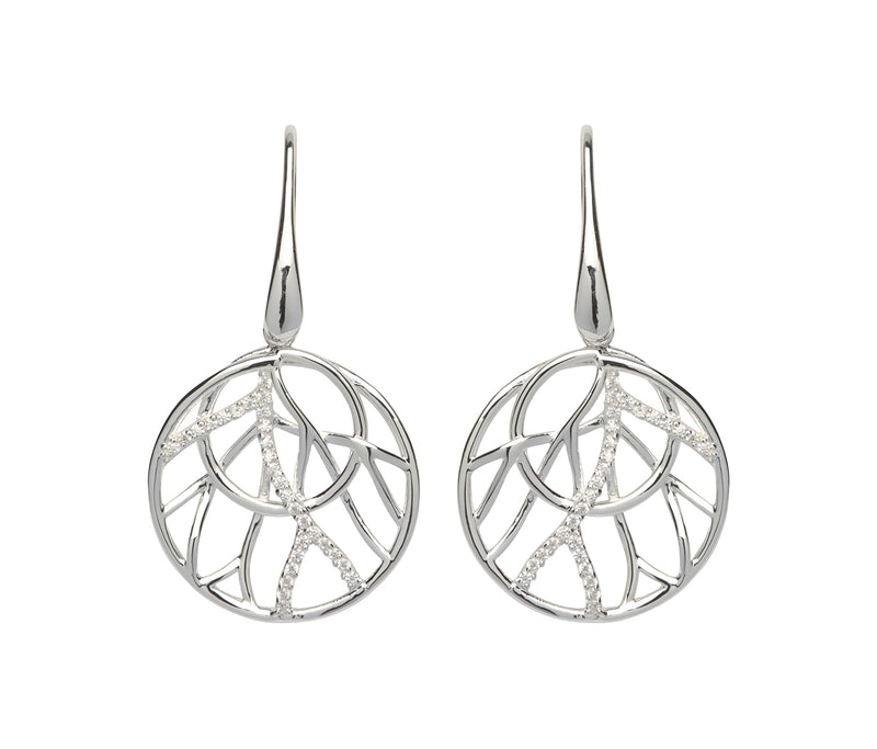 Unique & Co Ladies Sterling Silver Earrings ME-545 - Hamilton & Lewis Jewellery