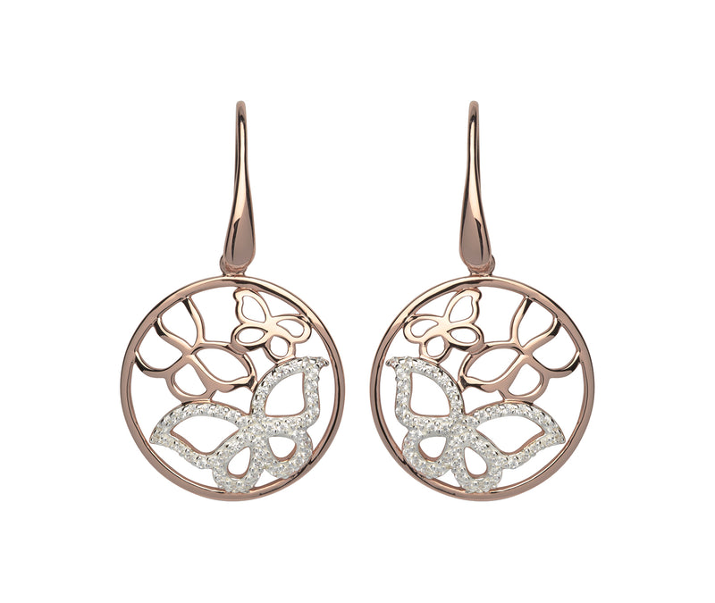 Unique & Co Ladies Sterling Silver Earrings ME-554 - Hamilton & Lewis Jewellery