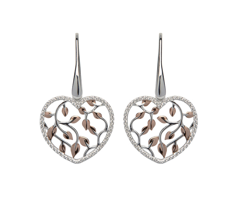 Unique & Co Ladies Sterling Silver Earrings ME-558 - Hamilton & Lewis Jewellery