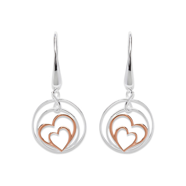 Unique & Co Ladies Sterling Silver Earrings ME-570 - Hamilton & Lewis Jewellery