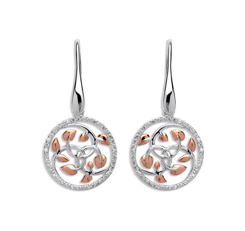 Unique & Co Ladies Sterling Silver Earrings ME-577 - Hamilton & Lewis Jewellery