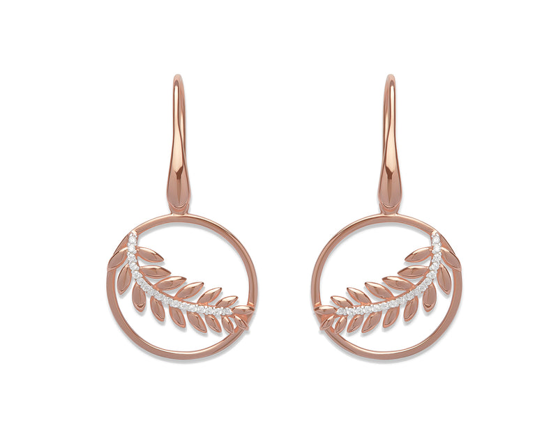 Unique & Co Ladies Sterling Silver Earrings ME-582 - Hamilton & Lewis Jewellery