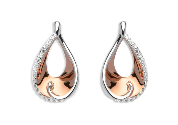 Unique & Co Ladies Sterling Silver Earrings ME-586 - Hamilton & Lewis Jewellery