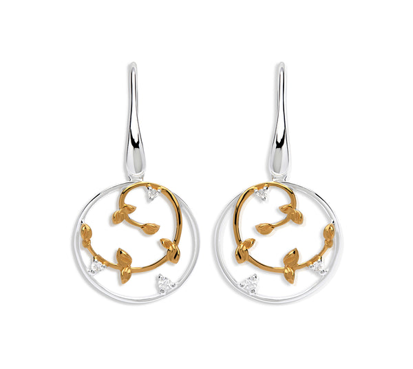 Unique & Co Ladies Sterling Silver Earrings ME-591 - Hamilton & Lewis Jewellery