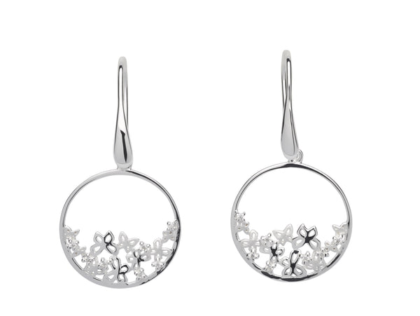 Unique & Co Ladies Sterling Silver Earrings ME-592 - Hamilton & Lewis Jewellery