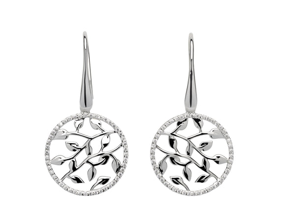 Unique & Co Ladies Sterling Silver Earrings ME-593 - Hamilton & Lewis Jewellery