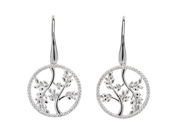 Unique & Co Ladies Sterling Silver Earrings ME-594 - Hamilton & Lewis Jewellery