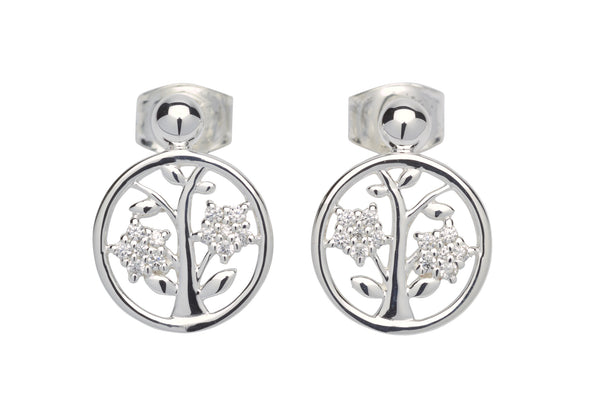 Unique & Co Ladies Sterling Silver Earrings ME-601 - Hamilton & Lewis Jewellery