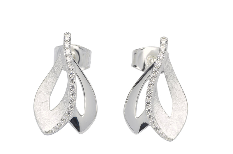 Unique & Co Ladies Sterling Silver Earrings ME-602 - Hamilton & Lewis Jewellery