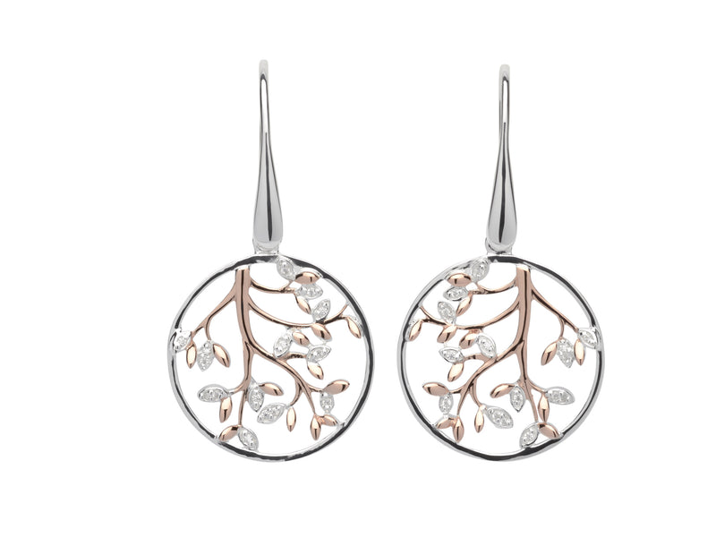 Unique & Co Ladies Sterling Silver Earrings ME-606 - Hamilton & Lewis Jewellery