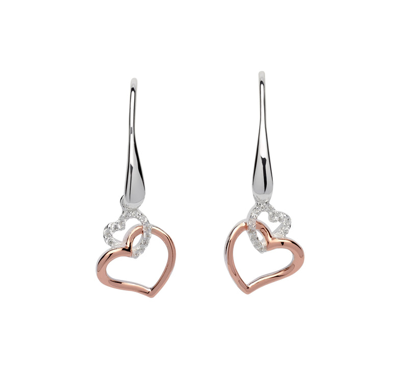 Unique & Co Ladies Sterling Silver Earrings ME-612 - Hamilton & Lewis Jewellery