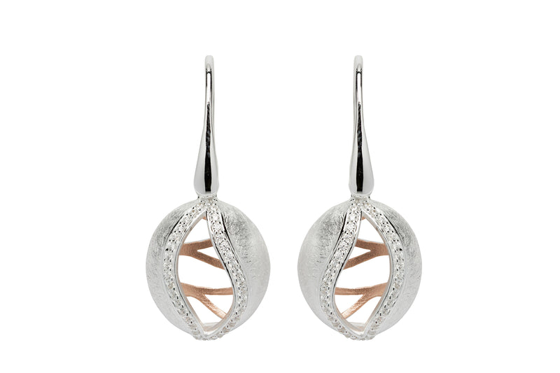 Unique & Co Ladies Sterling Silver Earrings ME-629 - Hamilton & Lewis Jewellery