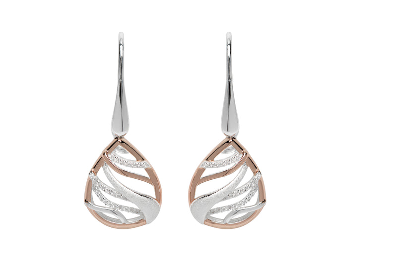 Unique & Co Ladies Sterling Silver Earrings ME-642 - Hamilton & Lewis Jewellery