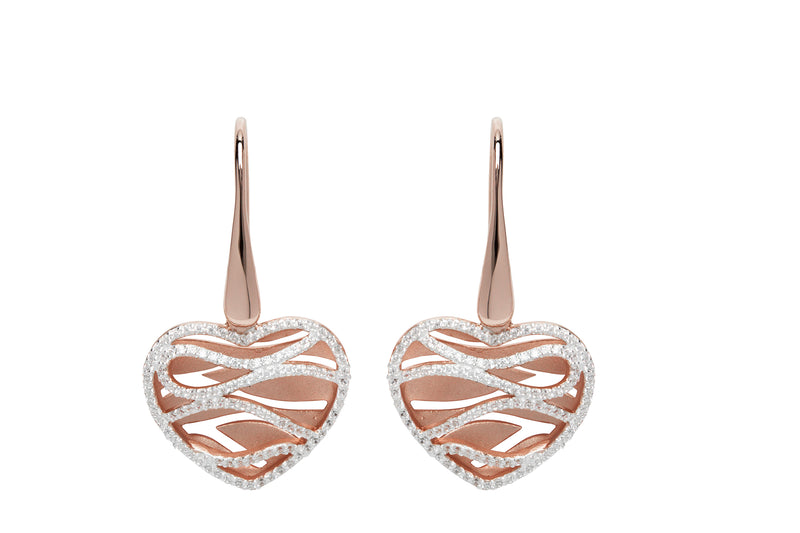 Unique & Co Ladies Sterling Silver Earrings ME-644 - Hamilton & Lewis Jewellery