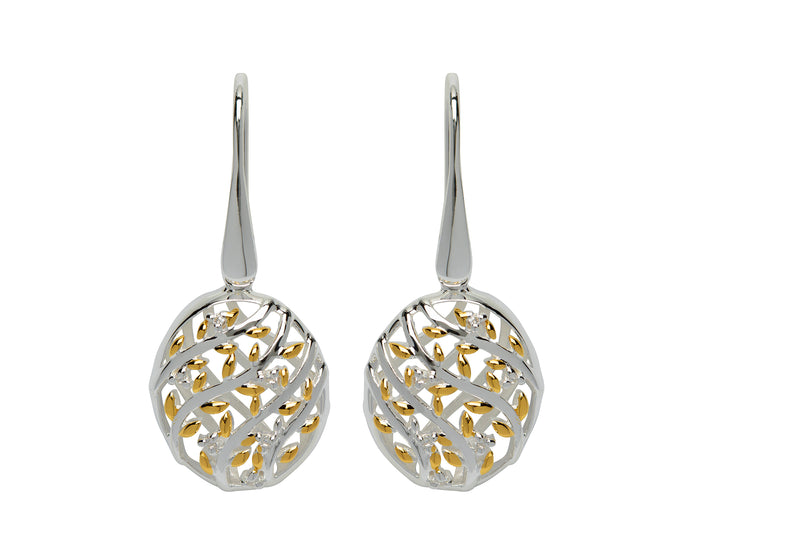Unique & Co Ladies Sterling Silver Earrings ME-645 - Hamilton & Lewis Jewellery
