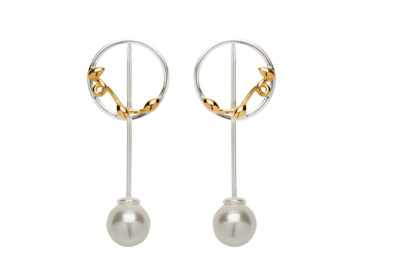 Unique & Co Ladies Sterling Silver Earrings ME-646 - Hamilton & Lewis Jewellery