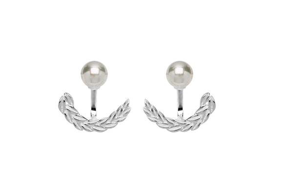 Unique & Co Ladies Sterling Silver Earrings ME-653 - Hamilton & Lewis Jewellery