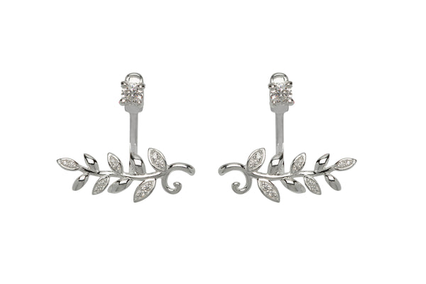 Unique & Co Ladies Sterling Silver Earrings ME-654 - Hamilton & Lewis Jewellery