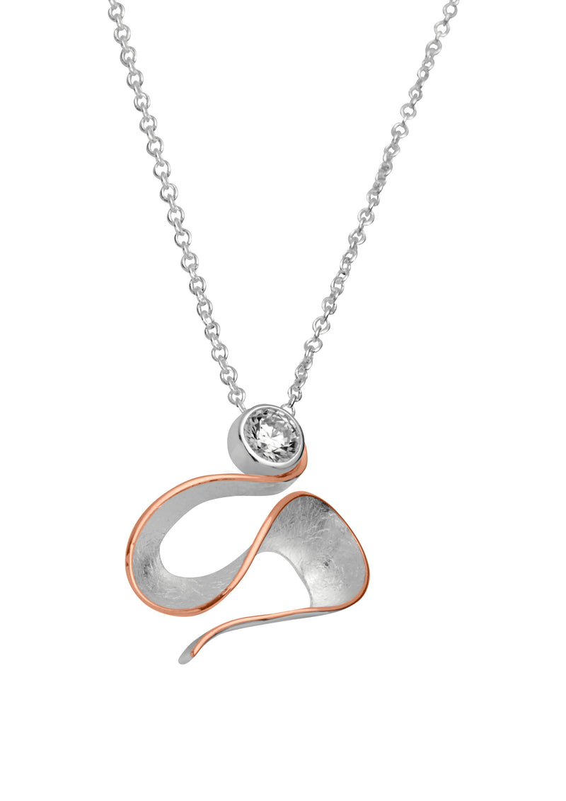 Unique & Co Ladies Sterling Silver Necklace MK-450 - Hamilton & Lewis Jewellery