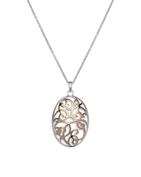 Unique & Co Ladies Sterling Silver Necklace MK-563 - Hamilton & Lewis Jewellery