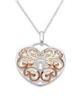 Unique & Co Ladies Sterling Silver Necklace MK-575 - Hamilton & Lewis Jewellery
