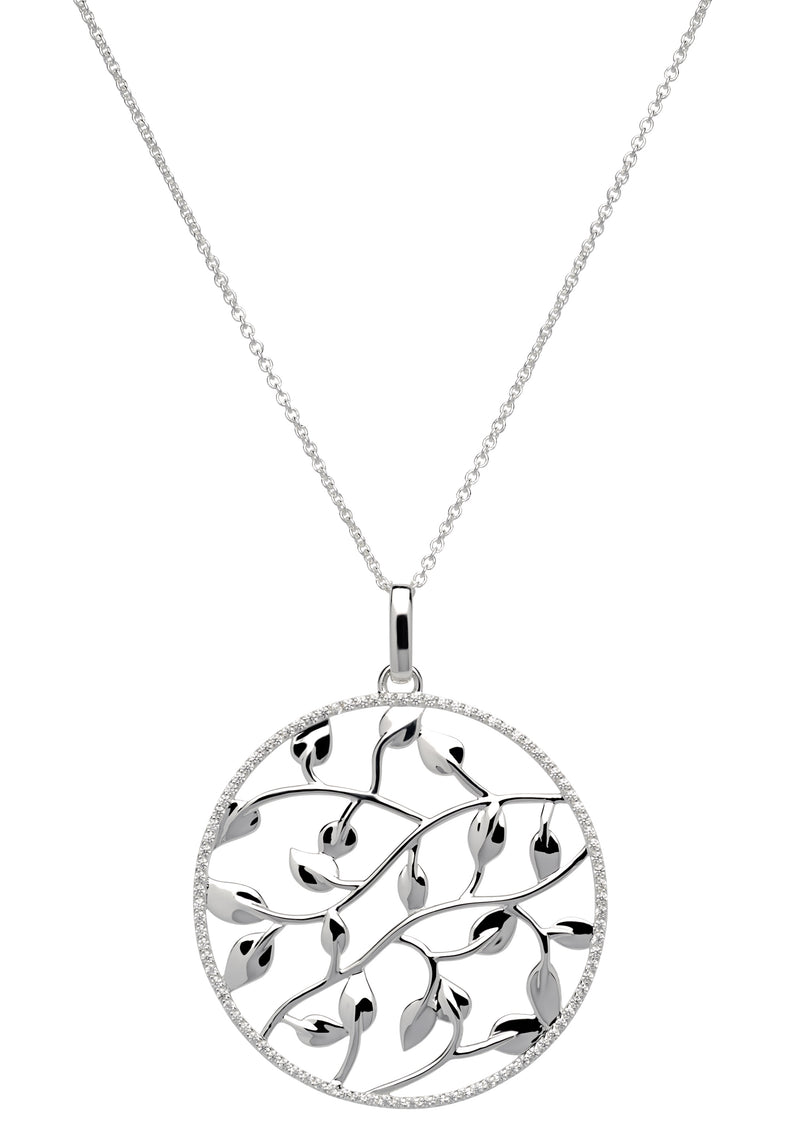 Unique & Co Ladies Sterling Silver Necklace MK-593 - Hamilton & Lewis Jewellery