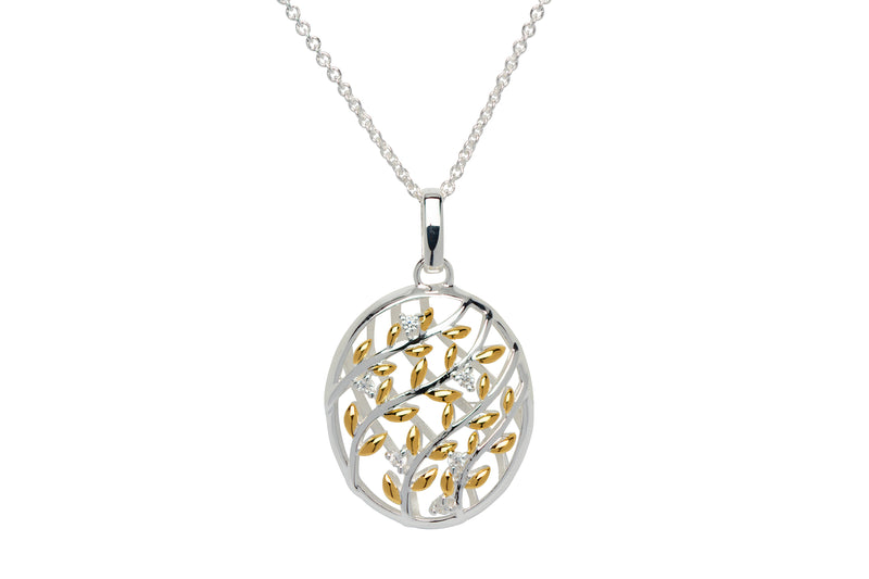 Unique & Co Ladies Sterling Silver Necklace MK-645 - Hamilton & Lewis Jewellery