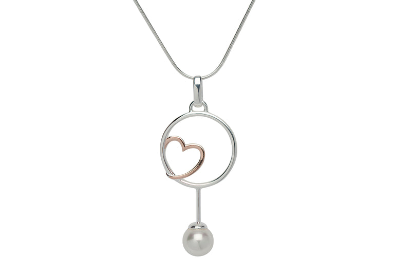 Unique & Co Ladies Sterling Silver Necklace MK-648 - Hamilton & Lewis Jewellery