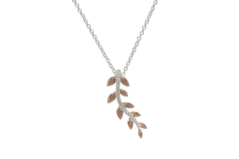 Unique & Co Ladies Sterling Silver Necklace MK-651 - Hamilton & Lewis Jewellery