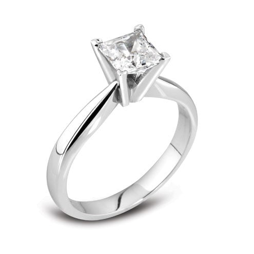 Princess Four Claw Solitaire Ring 0.25ct - 1.00ct - Hamilton & Lewis Jewellery