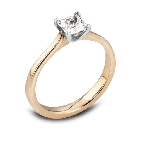 Princess Four Claw Solitaire Ring 0.50ct - 0.75ct - Hamilton & Lewis Jewellery