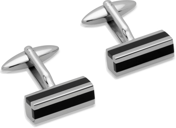 Unique & Co Steel Cufflinks QC-123 - Hamilton & Lewis Jewellery
