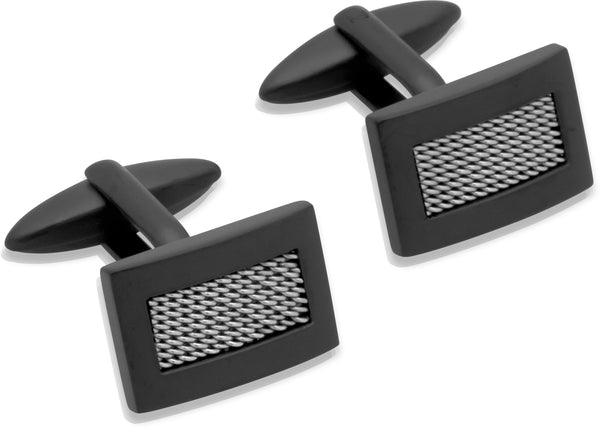 Unique & Co Steel Cufflinks QC-126 - Hamilton & Lewis Jewellery