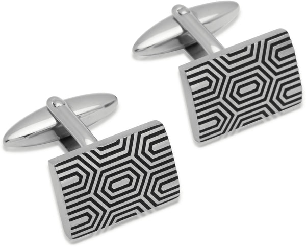 Unique & Co Steel Cufflinks QC-141 - Hamilton & Lewis Jewellery