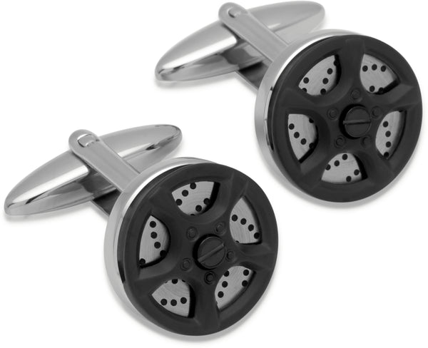 Unique & Co Steel Cufflinks QC-145 - Hamilton & Lewis Jewellery