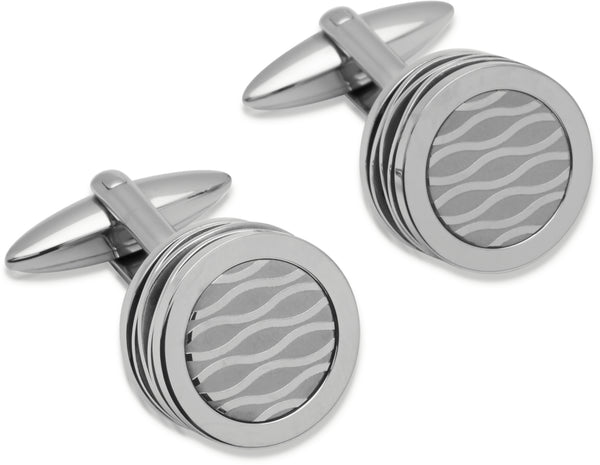 Unique & Co Steel Cufflinks QC-148
