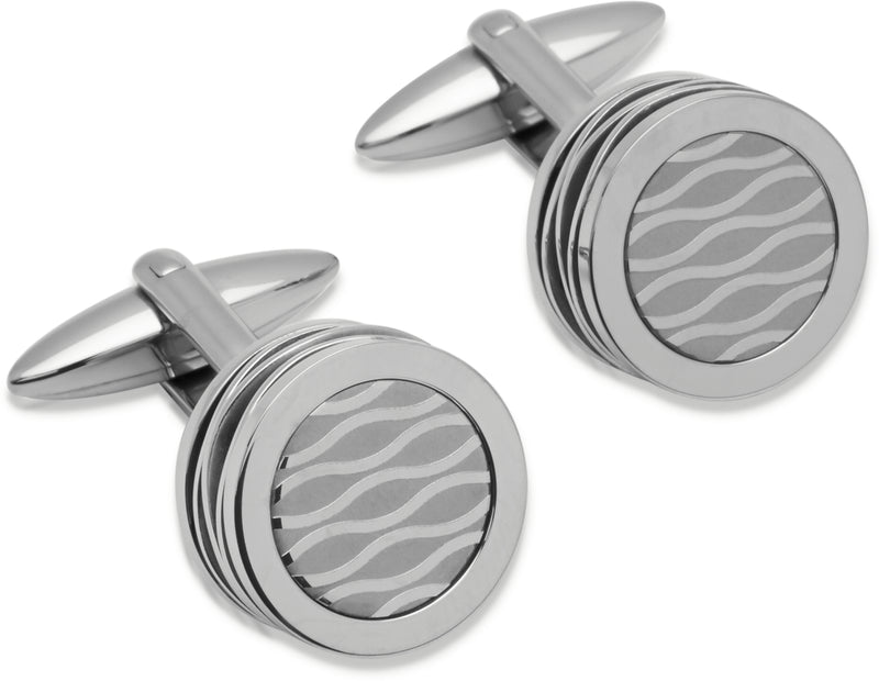Unique & Co Steel Cufflinks QC-148 - Hamilton & Lewis Jewellery