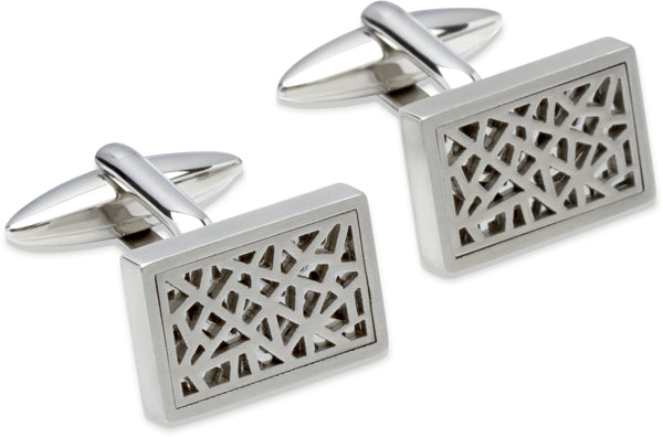Unique & Co Steel Cufflinks QC-169 - Hamilton & Lewis Jewellery