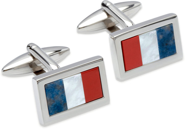 Unique & Co Steel Cufflinks QC-170 - Hamilton & Lewis Jewellery