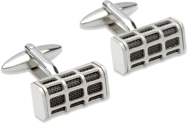 Unique & Co Steel Cufflinks QC-174 - Hamilton & Lewis Jewellery