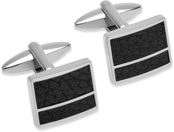 Unique & Co Steel Cufflinks QC-180 - Hamilton & Lewis Jewellery
