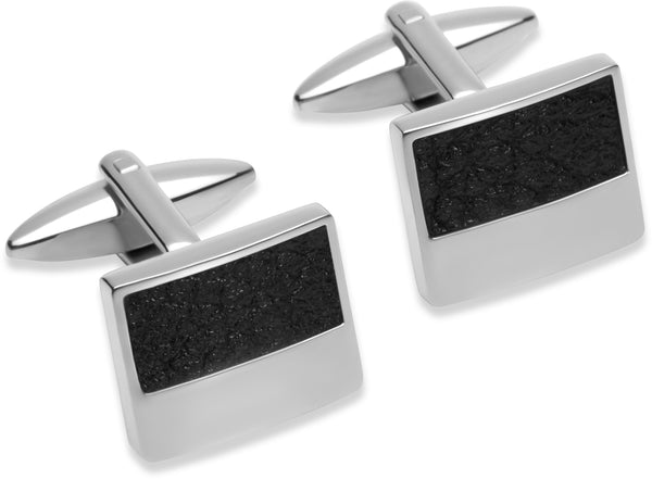 Unique & Co Steel Cufflinks QC-182 - Hamilton & Lewis Jewellery