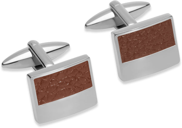 Unique & Co Steel Cufflinks QC-183 - Hamilton & Lewis Jewellery