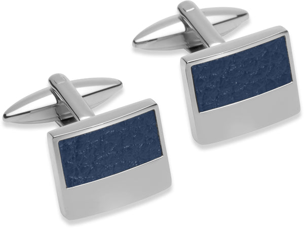 Unique & Co Steel Cufflinks QC-184 - Hamilton & Lewis Jewellery