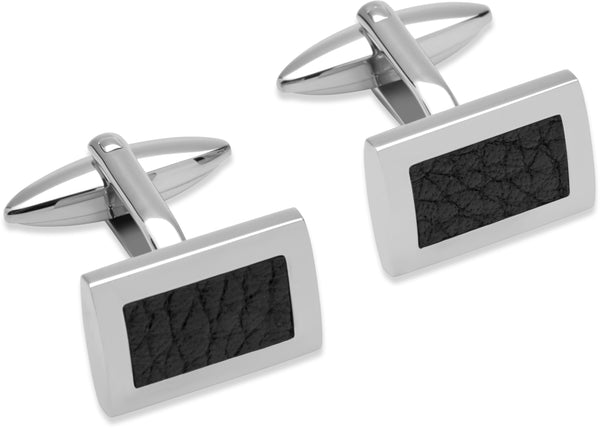 Unique & Co Steel Cufflinks QC-185 - Hamilton & Lewis Jewellery