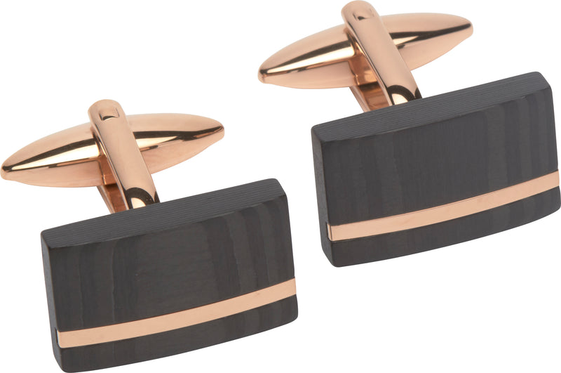 Unique & Co Steel Cufflinks QC-189 - Hamilton & Lewis Jewellery